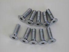 "CHROME STAINLESS COUNTERSUNK ALLEN BOLTS 5/16-18 x 1"" HARLEY MOTORCYCLE 10 PACK"