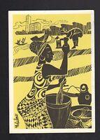 ABIDJAN (COTE D'IVOIRE) HOTEL & PILEUSE de FOUTOU illustré par C. ACHALME