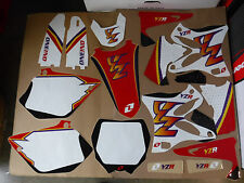 ONE INDUSTRIES TEAM GRAPHICS & # PLATE  BACKGROUNDS YAMAHA YZ125 YZ250 2002-14