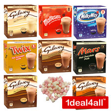 DOLCE GUSTO HOT CHOCOLATE PODS + MARSHMALLOWS GALAXY MARS TWIX MALTESERS MILK