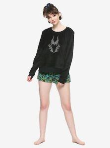 Disney Villains Maleficent pajama sleep set plush shorts top shirt M MSRP $39.90