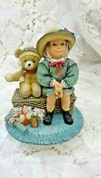 Leonardo collection Christmas Wishes Figurine girl with teddy bear.