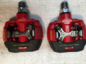 Look Moab Mountain Bike Pedals Very Good Condition WITH CLEATS vintage