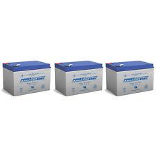 Power-Sonic 3 Pack - 12V 12Ah F2 Razor Battery fits MX500 & MX650, W15128190003