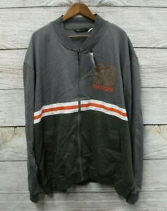 Sean John Sweatshirt Mens 5XB Green Orange Grey Thin Fleece Knit Zip Bomber New