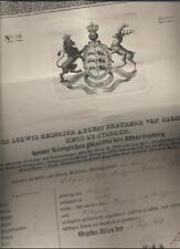 (n3738) 1833 Württenberg pasaporte para Julius de colina archers. württe