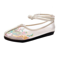 Mesh Flat Embroidered Casual Women's Cotton Linen National Style Walking Shoes
