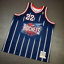 100% Authentic Clyde Drexler Mitchell & Ness 96 97 Rockets Jersey Size 52 2XL