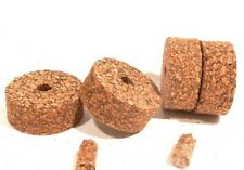 """Cork Rings 4 Mixed Grain Brown Spotted, 1 1/4"""" x 1/2"""" x 1/4"""" Hole"""