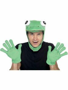 Men's Adult's Accessory Kit Animal Reptile Kermit Frog Costume Fancy Dress Fun