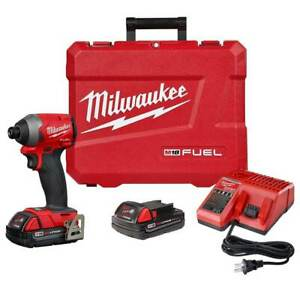 Milwaukee 2853-22CT M18 FUEL 18V 1/4-Inch HEX Cordless Impact Driver Kit