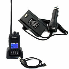 Tragbar DMR Walkie Talkies Retevis RT3 UHF +Program Cable+Battery Eliminator DE