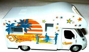 Welly Wohnmobil Camping Wohnwagen Modellauto Spielzeugwohnmobil mit Rückzug
