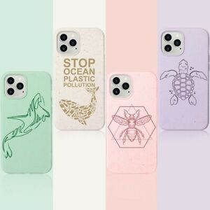 Eco-friendly Biodegradable Case Cover With Pattern for iPhone 12 Pro Max Mini