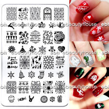 New Design Christmas DIY Nail Art Image Stamping Plates Manicure Template #MR-03