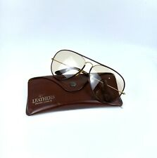 Ray Ban Vintage BL Sunglasses Leather Aviator Brown Case Bausch Lomb Changeable