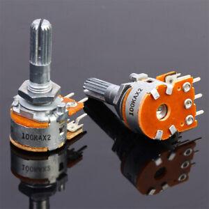 uxcell RK097G 50K Ohm Variable Resistors Dual Turn Rotary Carbon Film Taper Potentiometer 10pcs