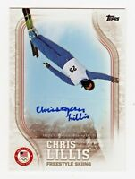 2018 Topps USA Olympic Team Autograph US45 Chris Lillis Freestyle Ski 129/135