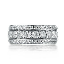 3.1ct Genuine Moissanite Engagement & Wedding Gift Sterling Silver 925 Band Ring