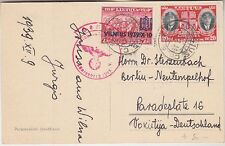 Lithuania Vilnius PPC to Germany 1939, censor