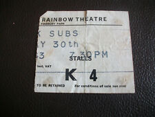 More details for original uk subs gig ticket rainbow theatre may 30th 1980 punk
