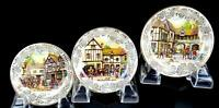 """STAFFORDSHIRE ENGLAND MIDWINTER 3 PIECE 3 1/2"""" BUTTER PATS / PIN DISHES 1946-"""