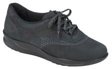 SAS Walk Easy Nero Black 7.5 Narrow, Women's Comfort Walking Shoes