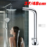 Silver Shower Arm Extension Arm Bottom Entry Hose Wall Mounted For