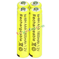 4x AAA battery batteries Bulk Nickel Hydride Rechargeable NI-MH 1800mAh 1.2V Ye