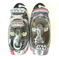 Star Wars Titanium (Lot of 2) Boba Fett Slave I 2004 and 2006 NEW