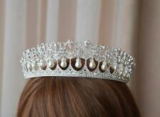 Elegant Diadem In Combination With Pearls and Swarovski Gemstones Women's Tiara