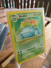 Pokemon Karte Bisaflor 15/102 Basis Set Holo Deutsch Holo