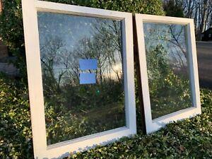 2 Vintage Window sash 20 x 25-1/4 old single pane from 1948