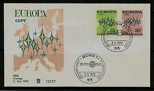 """BRD FDC MiNr 716-717 (1) """"Europa (CEPT) 1972"""" -Gemeinschaft-Staaten-Politik-"""