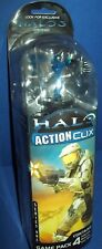 Miniature FIgures HALO ACTION CLIX BLUE SPARTAN green weapon gun Combat Game NEW