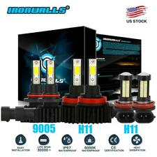 6pcs LED Headlight Kit + Fog Light Bulbs 6000K for Ram 1500 2500 3500 2015 2016