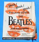 1964 BEN COOPER HALLOWEEN COSTUME SPECIAL BEATLES CATALOG JOHN PAUL GEORGE RINGO