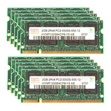 10pcs 2GB 2Rx8 PC2-5300S DDR2 667Mhz 204PIN SO-DIMM New RAM Laptop memory #1HRRS