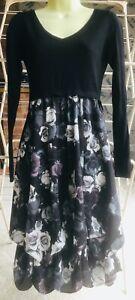 BNWT Phase Eight Black Abingdon Print Hook Up Dress , Size 8