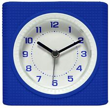 21110 Equity by La Crosse Silent Sweep Analog Alarm Clock - Blue