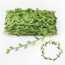 Artificial Vine Leaves Garland Ribbon Flower Headband Craft  Gift Wedding  DIY