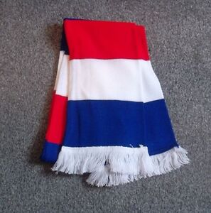 RED,WHITE AND BLUE BAR SCARF