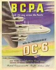 BCPA DC-6 PLANE ART PRINT POSTER - LARGE SIZE - 24 x 36  - NEW