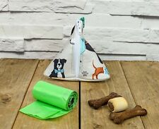 Handmade Doggy Poop Bag Holder  Doggy Treat Bag Holder in Multi Dog Fabric