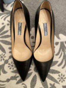 Prada Womens Heels Black NIB 39.5