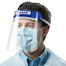 """Full Face Shield, Visor Protection Shield Safety Clear PPE. """"with FREE MASK"""" UK"""