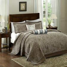 New Madison Park Aubrey Jacquard 4pc Queen Bedspread Set