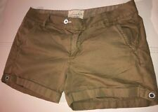 """Loomstate Act Natural Size 26 Kahki Cuffed Shorts 3"""" Inseam"""