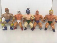 Sungold Vintage Figures MOTU Knock Off Wrestlers Remco Galaxy Warriors X5 Bundle