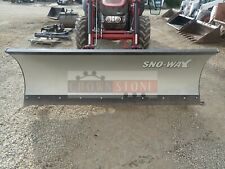 """Sno-Way 102"""" Snow Blade For Case-Ih Tractors, Hydraulic Angle, Fits 75C & Others"""